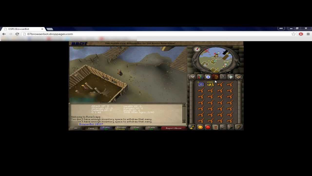 Old School RuneScape Browser Bot! | FREE!