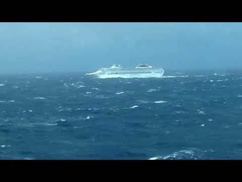 Cruise Ship in Bay of Biscay with VERY BAD weather