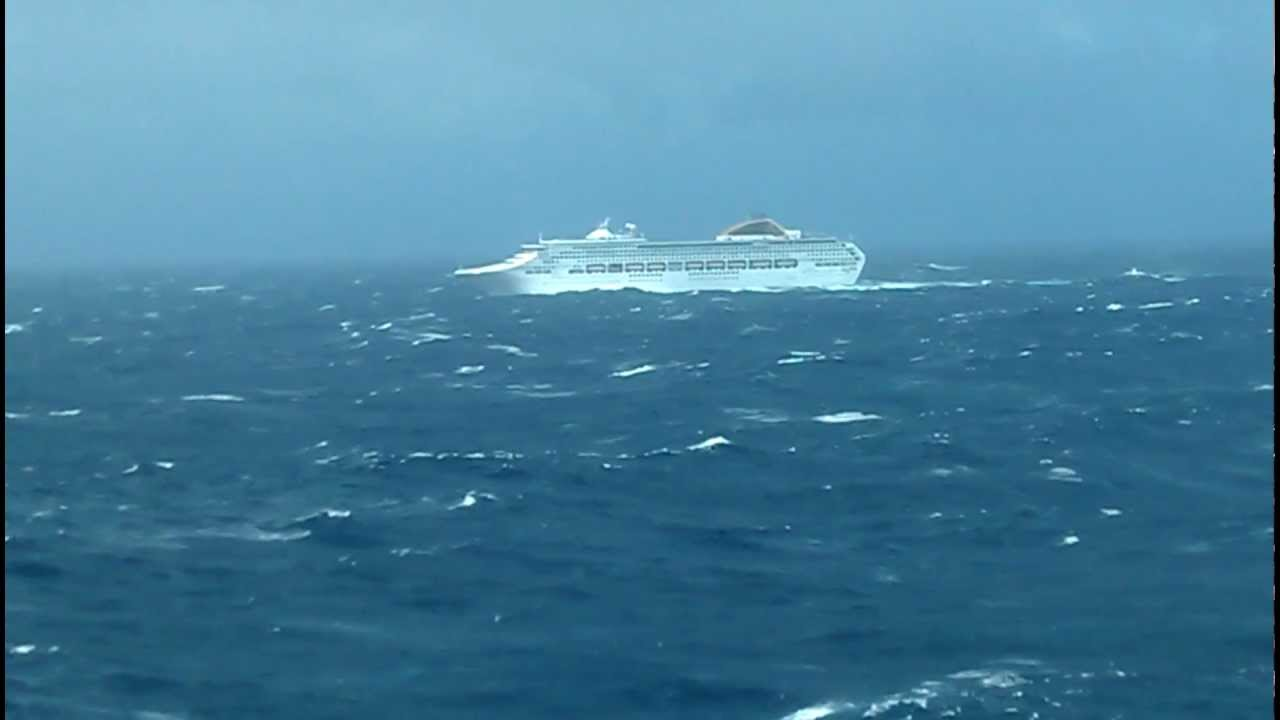 Cruise Ship in Bay of Biscay with VERY BAD weather - YouTube