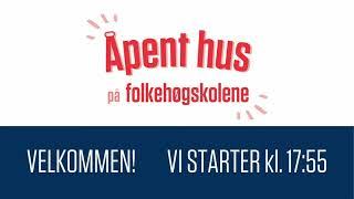 Åpent Hus På Folkehøgskolene   Tirsdag 04. Mai 2021