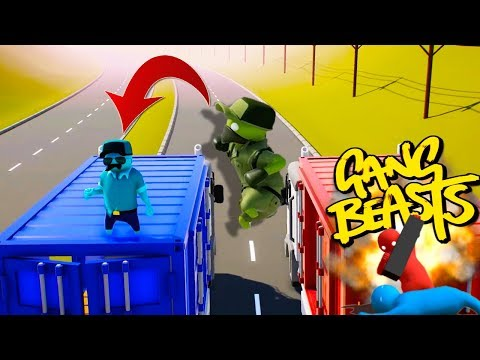 THE ULTIMATE TRUCK PUNCH!!! GANG BEASTS w/ Little Kelly and Sharky