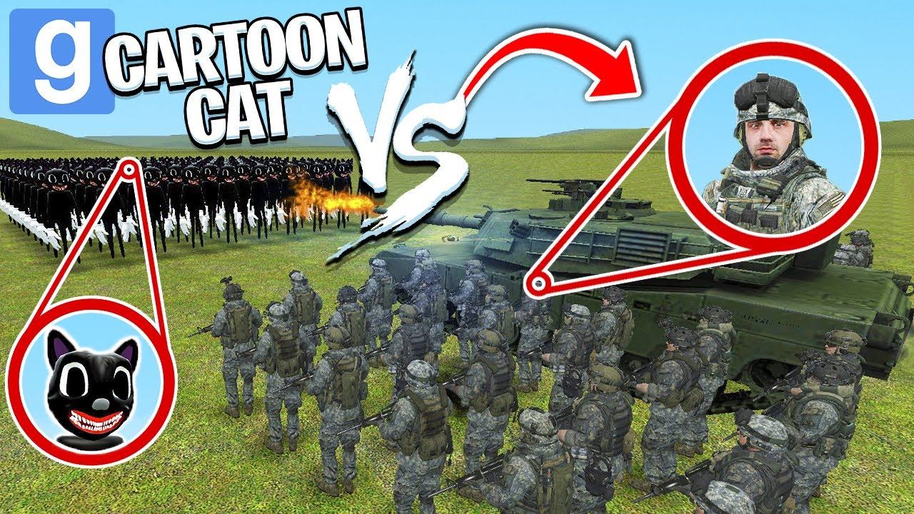 Download CARTOON CAT vs THE ARMY! (Garry's Mod Sandbox)   JustJoeKing