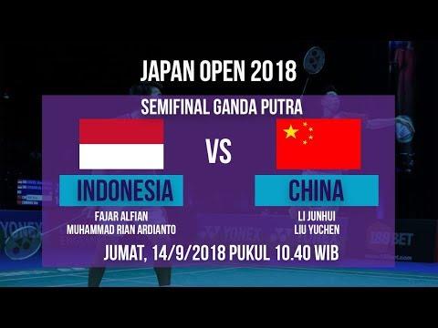 Jadwal Live Semifinal Ganda Putra, Fajar/Rian Vs Junhui/Liu Yuchen, Cina Di Japan Open 2018