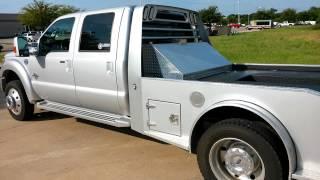 Silver 2014 Ford F550 Lariat 4x4 Laredo Hauler Air-ride Tdy Sales