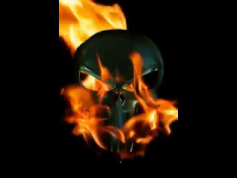Skull On Fire Black Ace Live Video Wallpaper