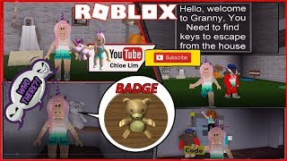 Roblox grand-mère! ON A FAILLI S'ÉCHAPPER ! Emplacement des articles et Shout out Voir Desc