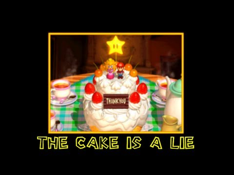super mario 64 blooper short: The cake is a lie!