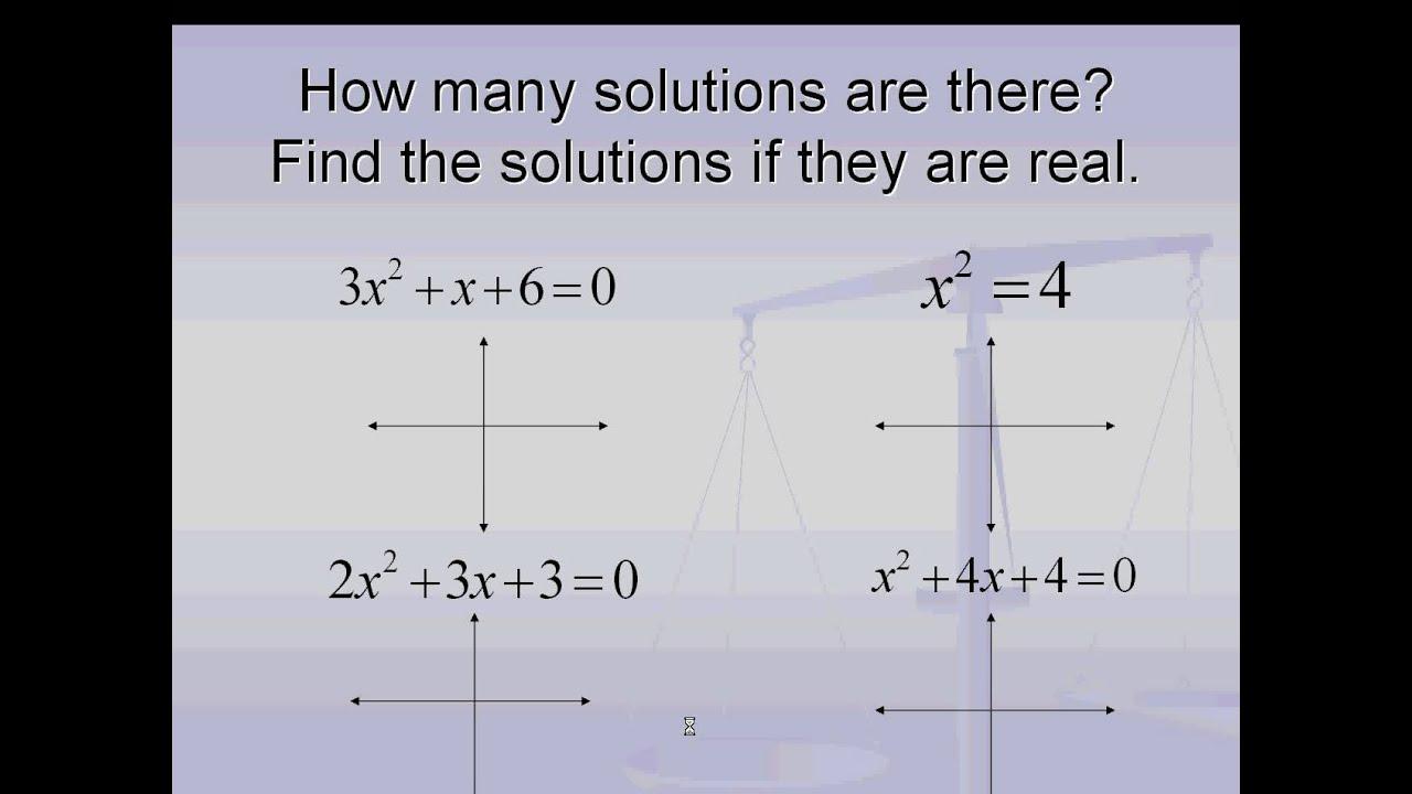 Algebra 2 Finding Real Zeros Of Quadratic Functions