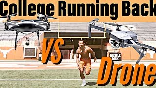 College Football Player Races SUPER FAST Drone! Can't Believe it! | +GoalUp  Behind the Scenes