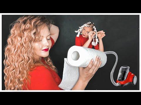 Мелкие КУДРИ-ВОЛНЫ без плойки за 7 минут. Прическа на Каждый день. Лайфхаки для волос.©LOZNITSA