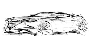 How to sketch a car