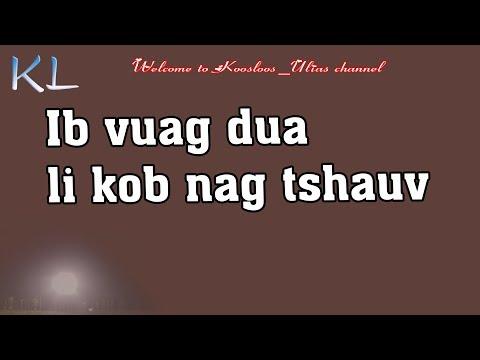 ib vuag dua li kob nag tshauv 4/23/2019 thumbnail