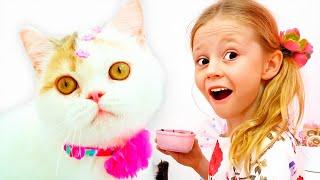Nastya dan Ayah membelikan anak kucing, video untuk anak-anak
