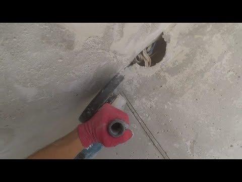 Режим штробы в бетоне под проводу Болгаркой (230). Пару советов.