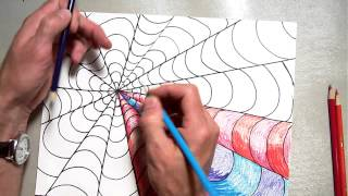 Op-Art Fluchtpunkt Färbung Ein B-Muster (Teil 2/2)