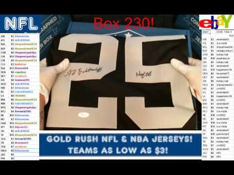 Gold Rush 2016 Autograph Football Jersey Box 6 Case 26 Fred Biletnikoff