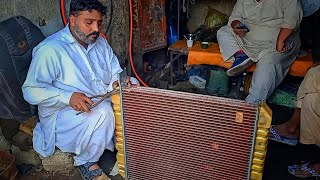 Amazing Technique of Fiאing a Truck Radiator || How to Rebuild Truck Radiator and Fitting