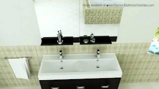 Design Element Citrus Modern Double Sink Bathroom Vanity DEC074
