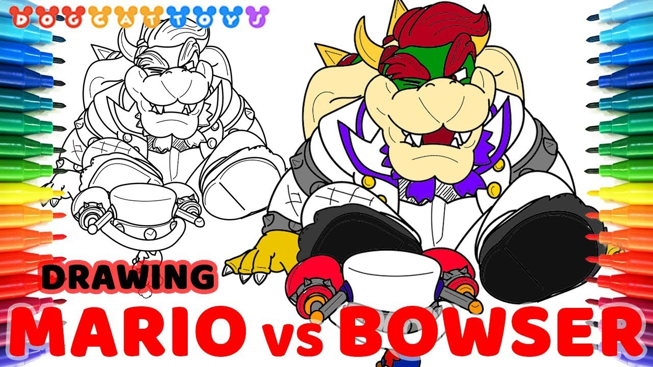 Drawing Super Mario Odyssey Mario VS Bowser 112