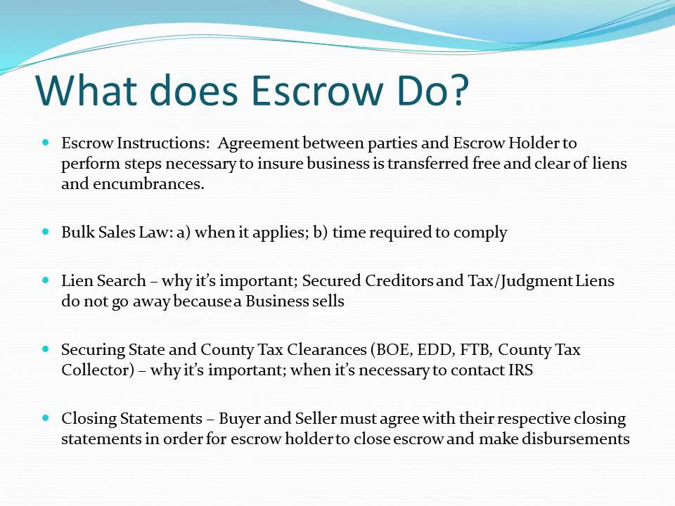 The Ins And Outs Of Escrow Youtube