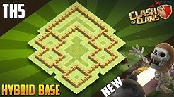 """EPIC BASE"" TH5 HYBRID/FARMING [defense] Base 2018!! Town Hall 5 Hybrid Base Design - Clash of Clans"