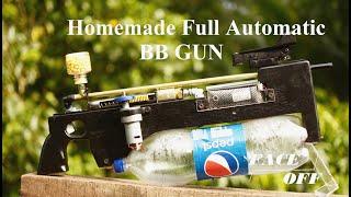 Homemade Machine Gun   Air gun Shoots 1000 BB's