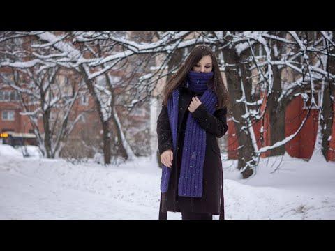 Узор для шарфа спицами из толстой пряжи