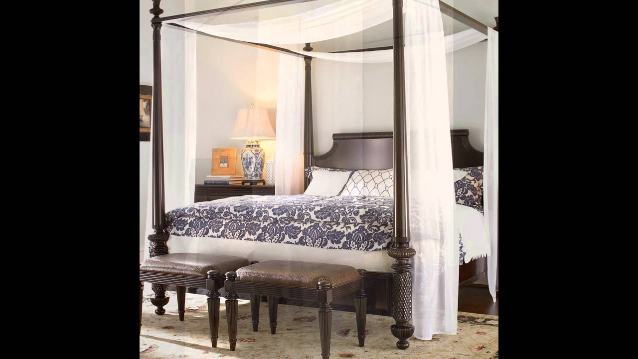 Fabric Contemporary Canopy Bed & Fabric Contemporary Canopy Bed - YouTube
