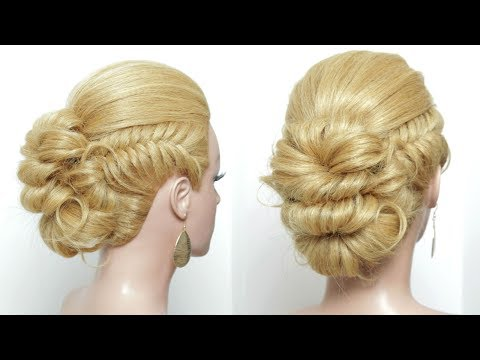 Easy Messy Bun Updo Hairstyle For Long Hair Tutorial