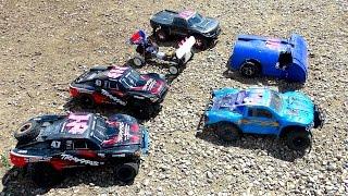 RC ADVENTURES - Rock 'em, Sock 'em Demolition Derby! PT 1- Open Class 2WD 1/10th Scale Electric