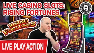 🔴 LIVE HIGH-LIMIT Rising Fortunes + MORE 🎰 Slots AGAIN at an ACTUAL CASINO!