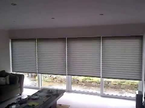 Electric Blinds Over BI Fold Doors | Premier Blinds U0026 Awnings 01372 377 112