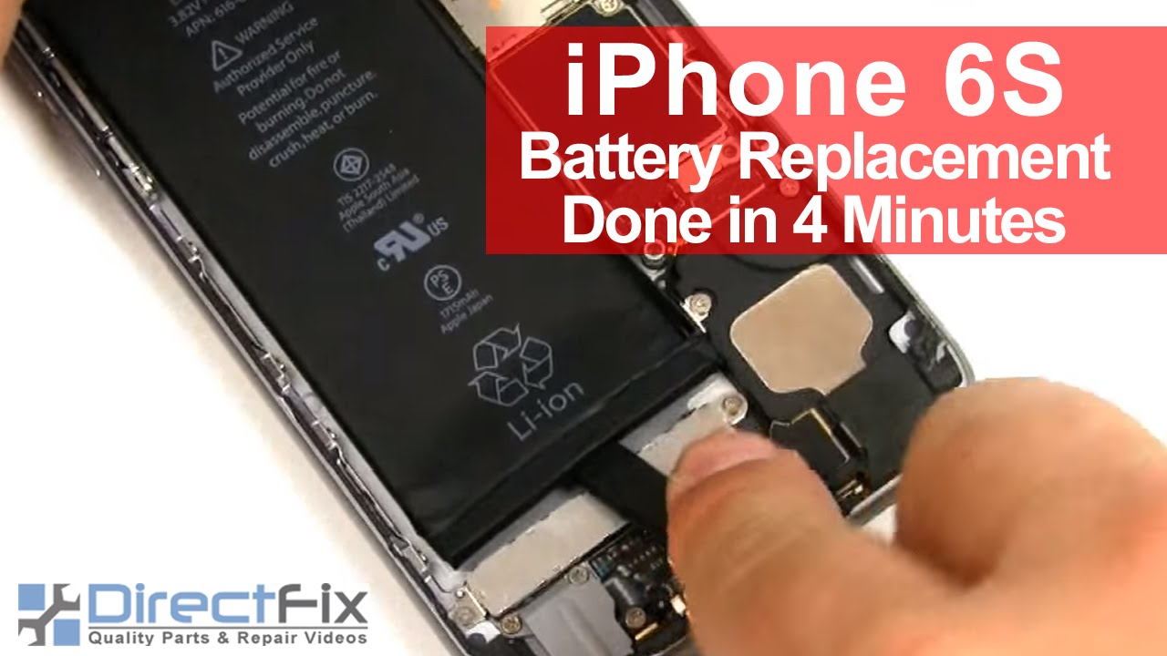 How To  iPhone 6S Battery Replacement done in 2 minutes - YouTube f670c8b53a9e1