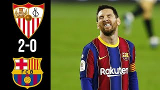 Севилья Барселона 2 0 Обзор Матча Полуфинал Кубок Испании 10 02 2021 HD