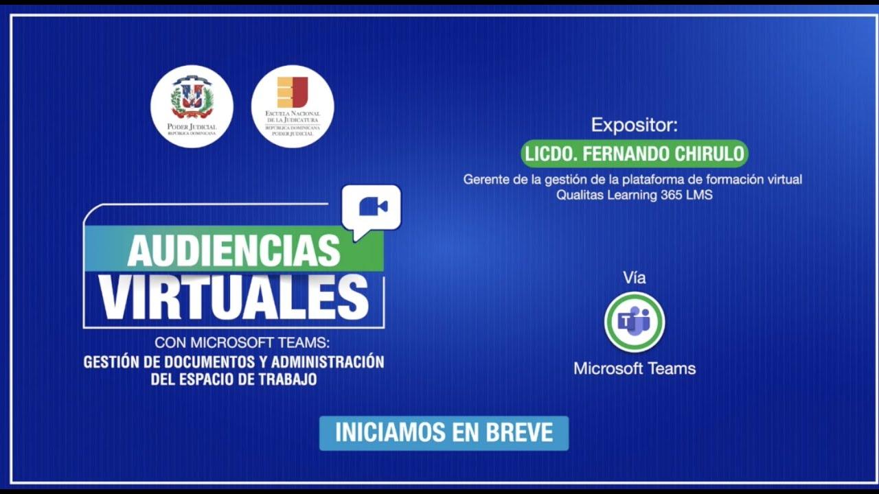 Webinar Audiencias virtuales con Microsoft Teams