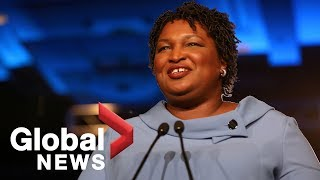 Stacey Abrams campaign holds press conference to discuss midterm elections result