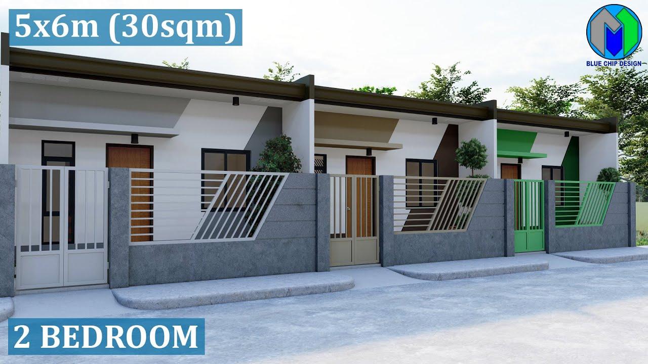 Small House Design 5x6m 30sqm | Apartment | Modern house design
