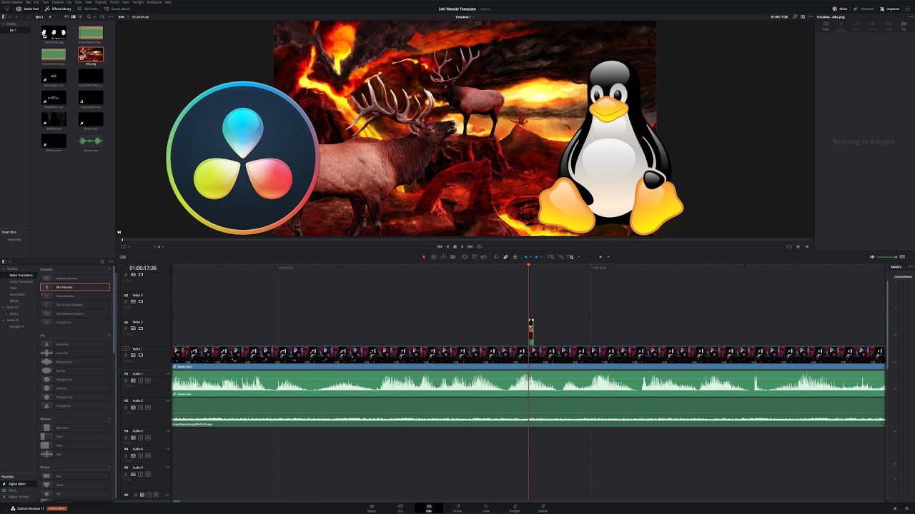 Editing With Davinci Resolve 17 On Linux Youtube