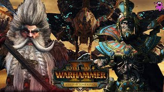 Settra and the Tomb Kings vs. Dwarfs - Mortal Empires Multiplayer - Total War Warhammer 2 Gameplay