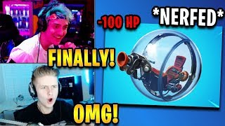 """Streamers React to """"The Baller"""" *FINALLY* Getting Nerfed! 