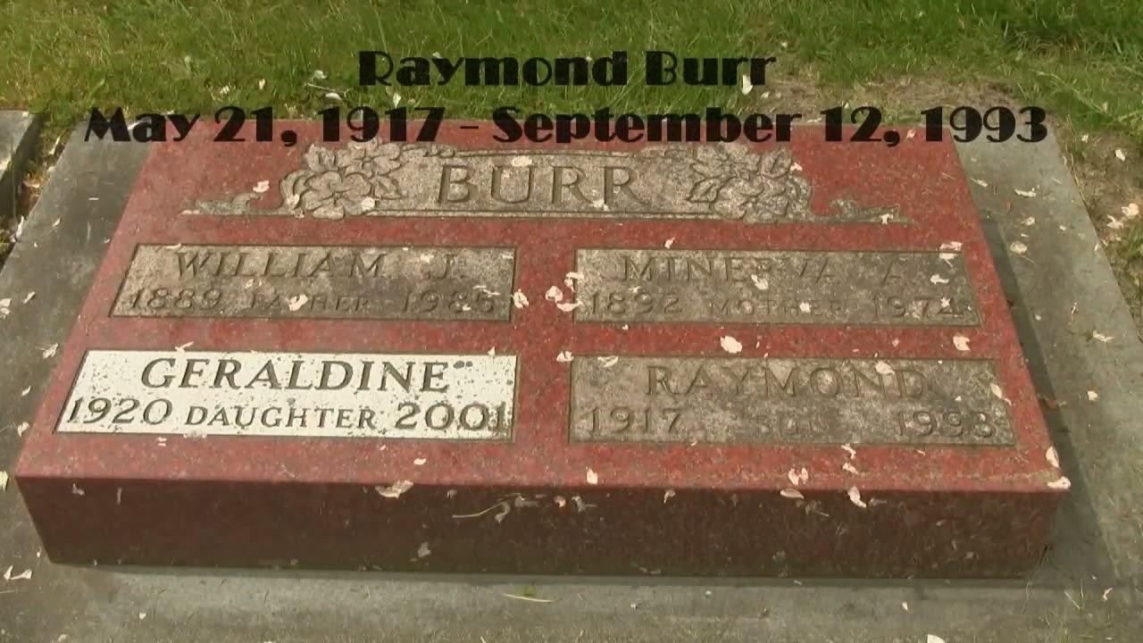 Perry Mason Raymond Burr Famous Hollywood Canadian Celebrity Grave Hd Youtube