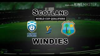 WORLD CUP QUALIFIER 2018:- WEST INDIES VS SCOTLAND HIGLIGHTS //22/03/2018 Video