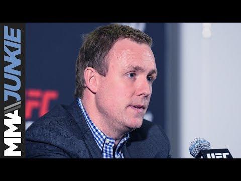 UFC exec David Shaw addresses the media following UFC Fight Night 127