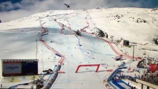 FIS SKI WM 2017 St. Moritz Plane Crashes Ropecam Flugzeug kappt Seilkamera