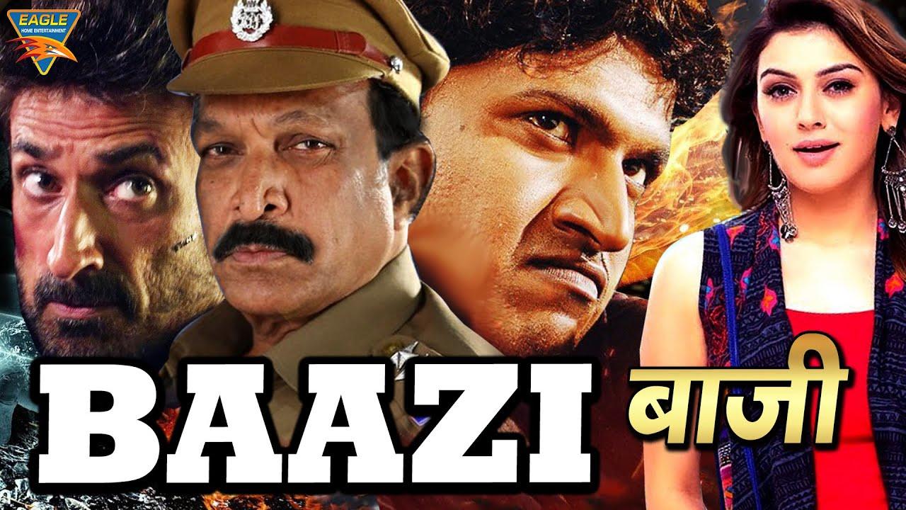 Baazi Hindi Dubbed Full Length Movie Puneeth Rajkumar Hansika Motwani Rahul Dev