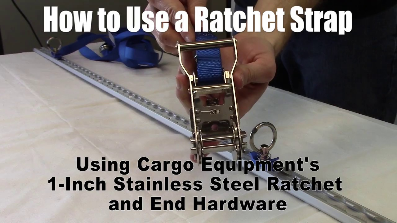 how to use a ratchet strap in one minute youtube. Black Bedroom Furniture Sets. Home Design Ideas