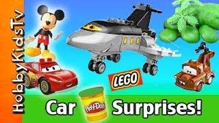 Mickey Mouse + Lightning McQueen Play-Doh Surprise Eggs! Lego Mater HobbyKids thumbnail