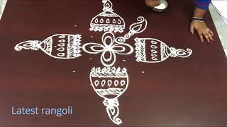 latest kalamkari jhumkas design with 9x1 straight dots || how to draw kalmkari jhumkas