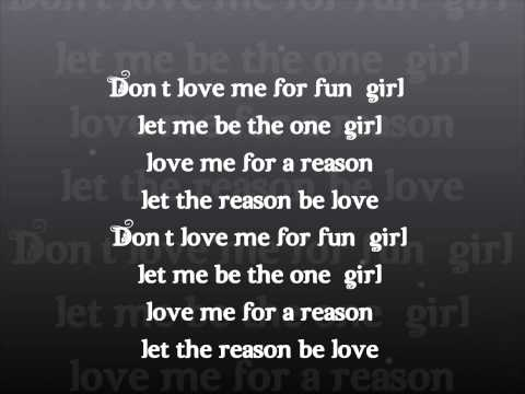 Music and Lyrics - Love Me For A Reason...