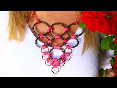 DIY Metal Ring Necklace